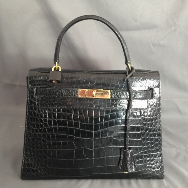 kelly 28 cm crocodile